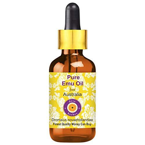 Deve Herbes Pure Emu Oil (Dromaius novaehollandiae) with Glass Dropper 100% Natural Therapeutic Grade 30ml