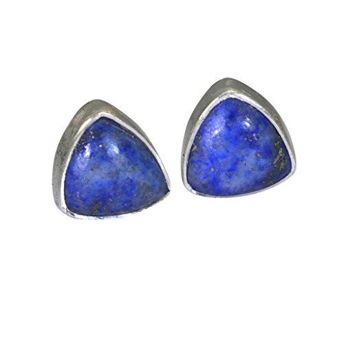 riyo edelsteine frauen lapislazuli 925 sterling silber brillant ohrring blau n½