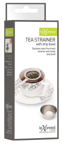 Kitchen Craft Stainless Steel Long Handled Tea Strainer- boxed Test
