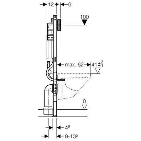 Geberit Duofix / Duofresh Wand-WC, 112 cm, mit UP-Spk. UP320 für Geruchsabsaugung Abluft 111.364.00.5