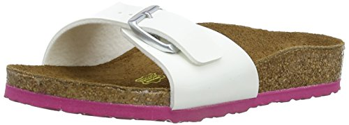 Birkenstock Madrid Birko Flor, Mules fille Blanc (White/Ls Pink)