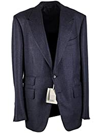 CL - Tom Ford Shelton Checked Blue Sport Coat Size 50   40R U.S. in Cashmere 56216e319468