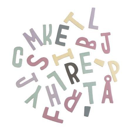 Sebra Magnebuchstaben, 62 Stück, gemischte Farben, Mädchen, 7,5 cm ab 3 Jahre, Holz mit magnetischer Rückseite, NEU Sebra0388 (Abc-großbuchstaben Alphabet-magnete)