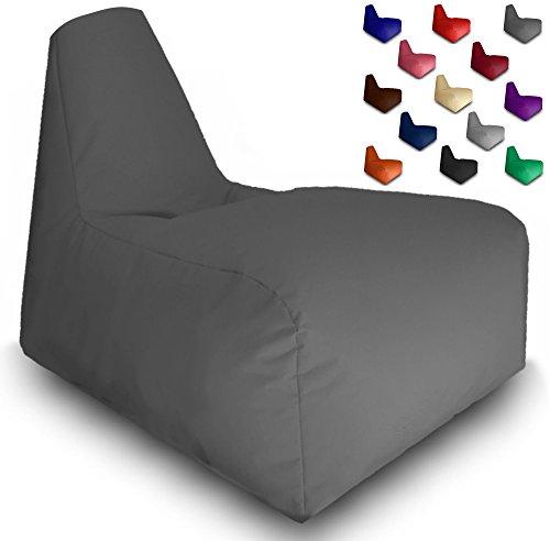 Sitzsack Sitzbag Gamer Sport Racing Gaiming Lounge Sessel In & Outdoor Sitzsäcke Stuhl Kissen Sofa Hocker Sitzkissen Bodenkissen mit Styropor Füllung-in verschiedene Farben-Bag Sitzsäcke Möbel (Anthrazit)