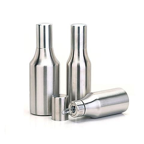 asentechuk® Edelstahl auslaufsicher Öl Flasche Öler Öl Spender Sojasoße Jar Essig Flasche 750 ml silber
