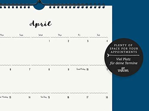 Großer Monatskalender | Kalender 2019/2020 | Wandkalender | Geschenk zum Einzug | Semesterbeginn | Familienorganisation