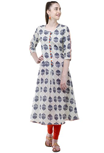 AnjuShree Choice Women\'s Stitched Cotton Kurti (Small)