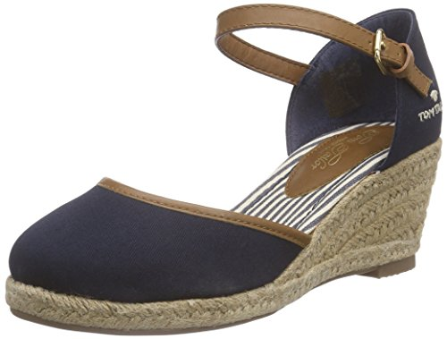 Tom Tailor Damen Espadrilles, Blau (navy), 38 EU