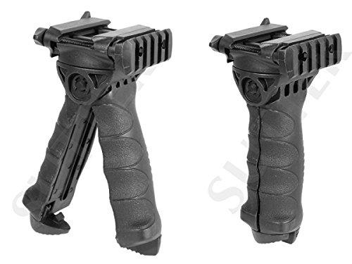 Tatical Bipod und Frontgriff (Tactical Folding Grip) für Weaver und Picatinny Schienen/Vorderschaftauflage & Stativ für Luftgewehr Softair Gewehr -