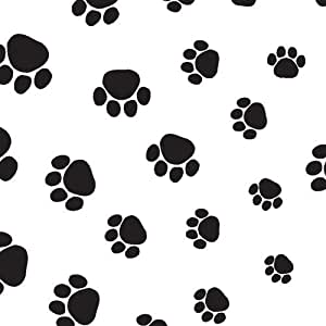Suttons wrap Printed Patterned Tissue Wrapping Paper luxury 5 sheets - Paw Prints Dog Cat