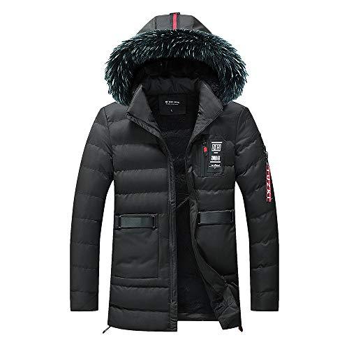 Preisvergleich Produktbild Oliviavan, Herren Herbst Winter Outwear Slim Long Trench Reißverschluss Caps Hoodies Sweatshirt Tops Jacke Männer Mantel Abnutzung Daunenjacke Outdoor Skijacke
