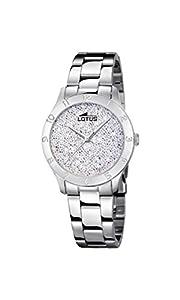 Lotus Watches Reloj Análogo clásico para Mujer de Cuarzo con Correa en Acero Inoxidable 18569/1