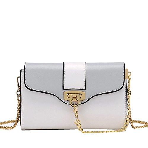 Yy.f Schöne Taschen Lässig Kette Von Kleinen Beuteln Neuen Hit Farbe Kleine Quadratische Tasche Schultertasche Diagonal Handtaschen 3 Farben Taschen B