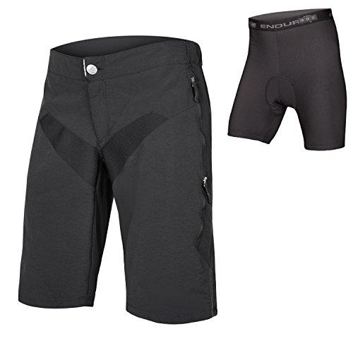 Endura SingleTrack Herren Baggy MTB Fahrradhose mit Einsatz, Herren, schwarz, Medium (Cannondale Herren Fahrrad)