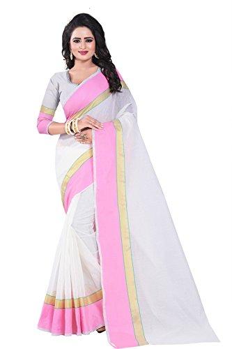 J B Fashion Women's Manipuram Saree With Blouse Piece (Mp-01-Light _Light Pink)
