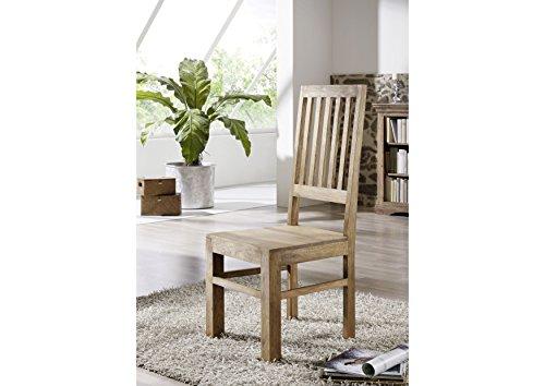 MASSIVMOEBEL24.DE Möbel massiv Holz Palisander geölt grau Stuhl Sheesham Kolonialstil Massivholz Möbel LEEDS #32