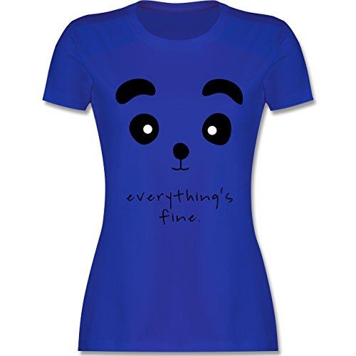 Eulen, Füchse & Co. - Panda everything's fine - tailliertes Premium T-Shirt mit Rundhalsausschnitt für Damen Royalblau