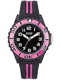 Mango A68359-1SS5A - Reloj para mujeres, correa de silicona color negro