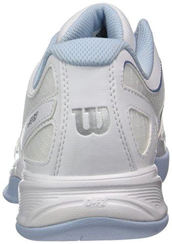 Wilson Wrs323020e, Chaussures de Tennis Femme Blanc Cassé (White / White / Cashmere Blue)