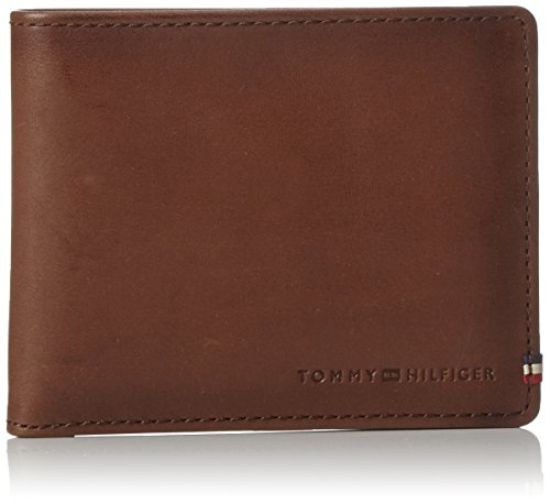 Tommy Hilfiger Th Burnished Mini Cc Wallet, Porte-monnaie homme, Multicolour (Testa Di Moro), 0.5x4.5999999999999996x10.7 cm (W x H L)