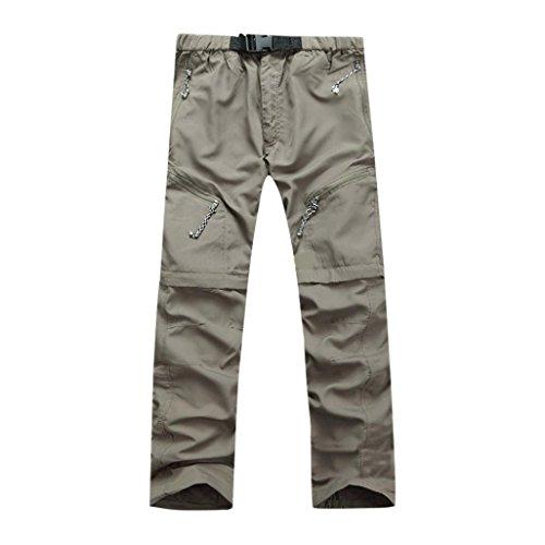 ❤️Pantalons Homme, Amlaiworld Hommes Pantalon Sec D'Été Rapide Extérieur Pantalons Minces Pantalons Détachables Pantalons Imperméables (L, Vert)