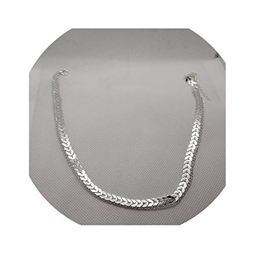 Multi Pfeil-Halskette Frauen zwei Schichten Ketten Collares Fishbone Flugzeug Halskette flache Kettenhalsband auf Halsschmuck, Silber