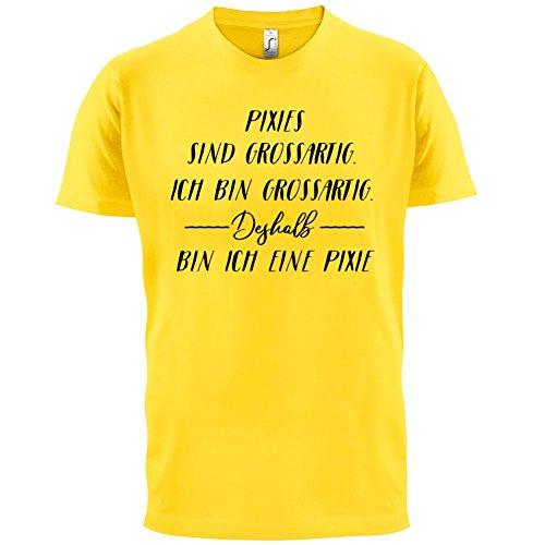 Ich Bin Grossartig - Pixie - Herren T-Shirt - 13 Farben Gelb