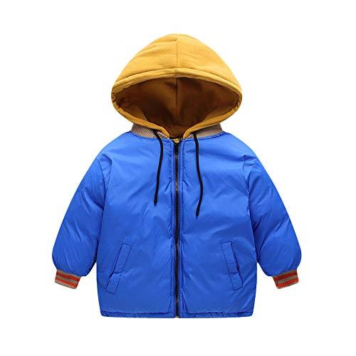 Shopaholic0709 Neugeborene Kleidung, Baby-Junge-Mädchen Warme Mäntel Jacke Zipper Dicker Hoodie Oberbekleidung Kordelzug farblich passende Tasche Baumwollmantel