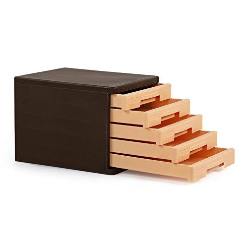 Cello Idea Storage Cabinet, Brown and Beige