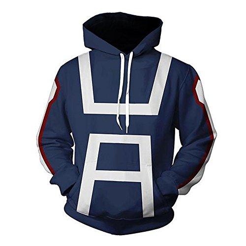 Zhangjianwangluokeji Blau Hoodie Cosplay Sweatshirt Kostüm (XXL, Blau 2) - Blau Hoodie Sweatshirt