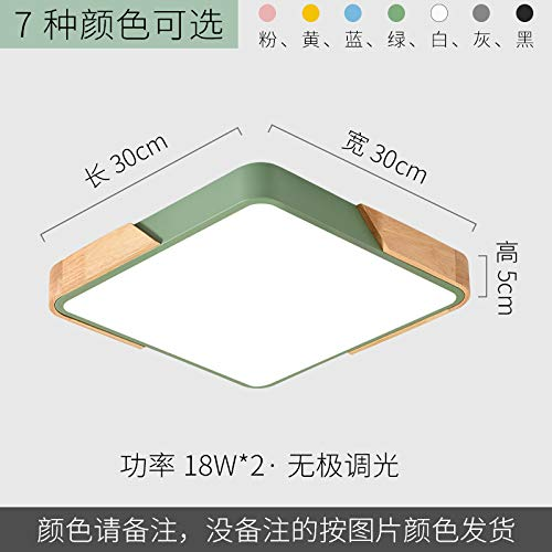 Led ultradünne Arbeitszimmer Lampe Schmiedeeisen Persönlichkeit quadratische Lampe 30 * 30cm stufenlos verdunkeln gelb