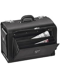 """ALASSIO valise pour pilotes """"VERONA"""", cuir , noir"""