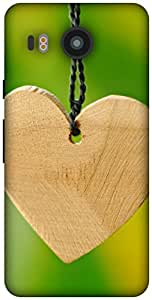 The Racoon Lean wooden hearts hard plastic printed back case / cover for LG Nexus 5X