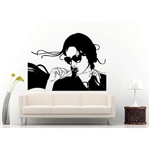 BRILLINT.YY Fototapete PVC-Tapete Mädchen Mit Sonnenbrille Shades Home Decor Coole Moderne Frau Mit Lolly Pop In Den Mund