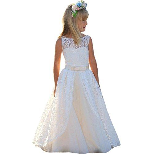 Vestito Elegante da Ragazza Festa Matrimonio Damigella Donna Sposa  Cerimonia Prima Comunione Battesimo Carnevale Ballerina Cocktail 91f2721b87f