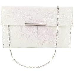 Bolso de Mano con Brillos - tono blanco