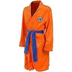 V1 Clothing CO Bata de baño Pijama Dragon Ball Z Super Saiyan Son Goku Albornoces Albornoz Franela Kimonos Felpa SPA/baño Túnica para niños y Adultos