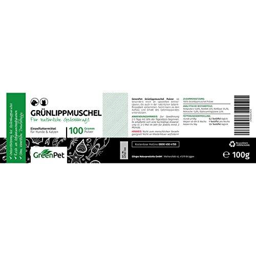 GreenPet Grünlippmuschel-Pulver 100 g - Naturprodukt für Hunde und Katzen
