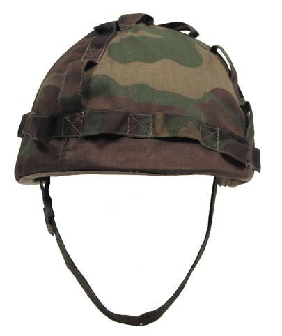 US Helm Kunststoff, mit Stoffbezug, woodland