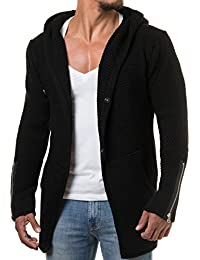Carisma Herren Strickjacke Cardigan Kapuzenpullover Zipper Patches 7221 85bbe5e433