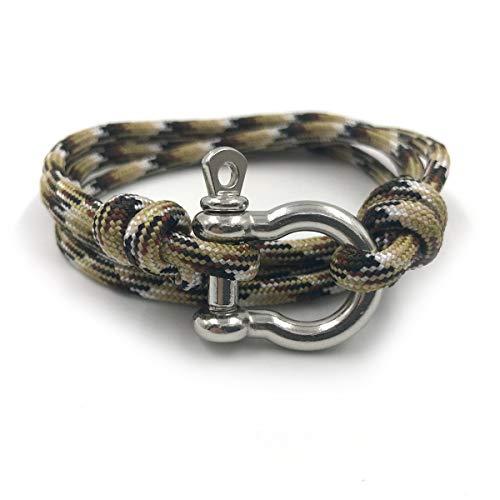 Rock + Shore Smores Rope Armband | Segelarmband | Herren Seil Armband | Seil für Frauen im Freien -