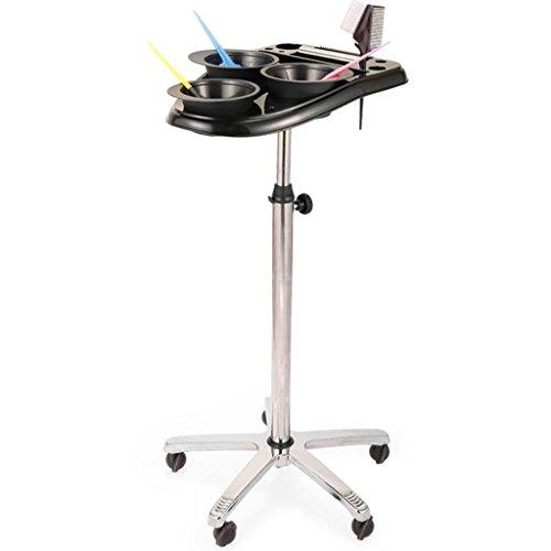 RKY Tool Cart - Beauty Friseurbedarf Hair Dyed Emaille Farbe Paste Schüssel Rack Regal Hair Dye Rack Dye Werkzeugwagen Multifunktionaler Speicher (Farbe : A, größe : 50cm*(70-105) cm) -