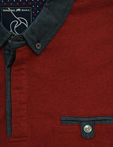 Raging Bull Herren Poloshirt Rot - Claret