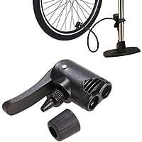 Vovotrade® Bicicleta Doble Cabeza Bomba de Aire Adaptador Válvula, Bici Ciclismo Neumático Tubo Bombeo Acortar Abrazadera inflador Gorra Reemplazo Presta