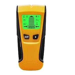 Flybiz Detector de Pared Encontrar Stud Finder con 3-en-1 Metal AC Alambres Escáner de Madera con Pantalla LCD Retroiluminada,Para Detecta AC Cable ,Metal Tuberías,Madera En La Pared Cemento,Azulejos