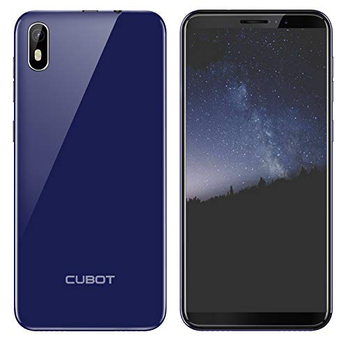 CUBOT J5 Doble SIM Smartphone 5,5 Pulgadas (13,97cm) Pantalla Táctil Capacitiva,Android 9.0 Operativo,2GRAM+16GROM,2800mAhBatería,Procesador Cuatro Núcleos,Identificación de Cara(Azul)