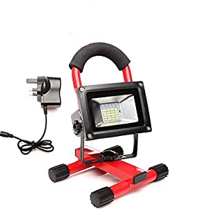 LED Work Light Portable Security Flashlight 4 Levels Bright 30W Rechargeable 3200LM Flood Worklight Lamp with USB Ports Red