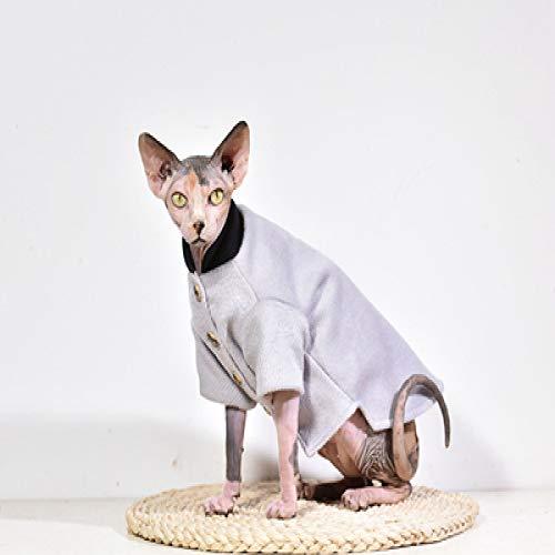 MYYXGS Abiti Sfinge, Vestiti per Gatti Senza Peli, Forniture per Animali Domestici, Gattini, per Gatti Senza Peli Sfinge L