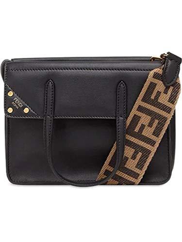 Fendi Damen 8Bt306a5dyf0kur Schwarz Leder Handtaschen - Fendi Schwarz Handtaschen