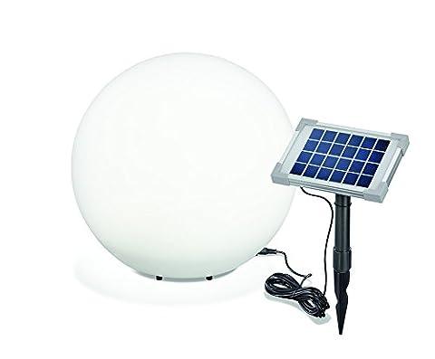 esotec Solar Leuchtkugel Mega Ball 40cm, hochwertige PE Kugel, Dauer- oder Wechsellicht, 8 Lichtfarben inkl. warm- und kaltweiß,